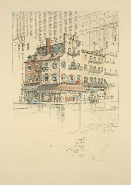 Houses on Battery Park, 1905.