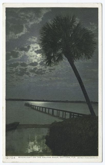 Moonlight on the Halifax River, Daytona, Fla.