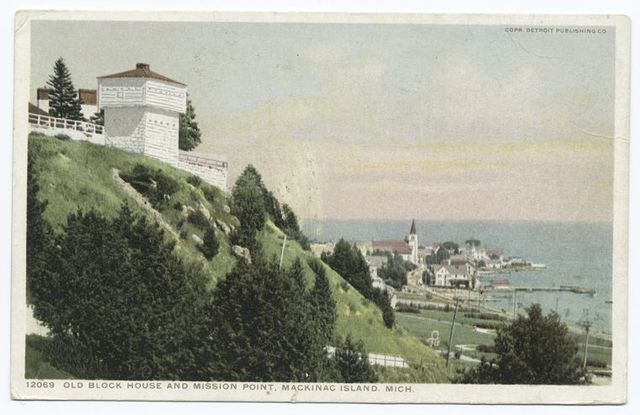 Old Block House and Mission Point, Mackinac Isl., Mich.