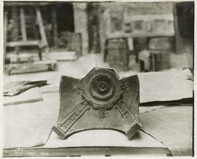 [Plaster model of a dome.]