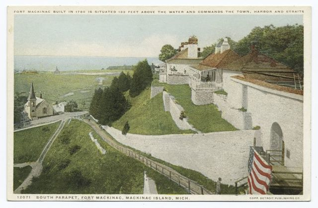 South Parapet, the Fort, Mackinac Isl., Mich.
