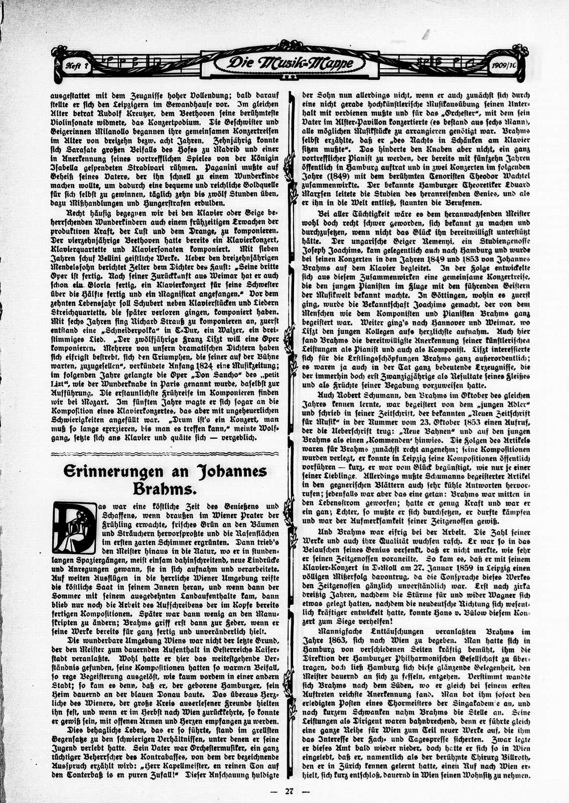 Musik-Mappe: eine Zeitschrift mit Noten-Beilagen, Vol. 4, no. 7