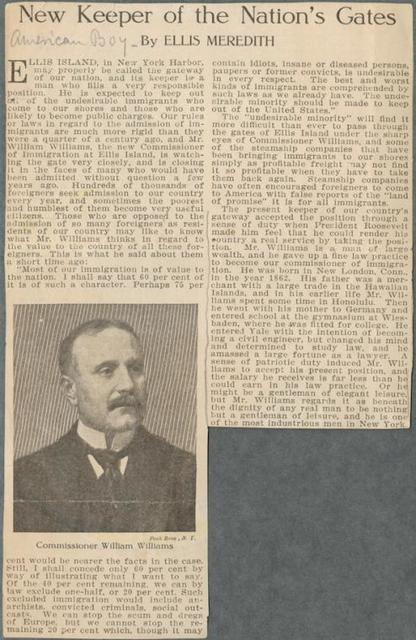 """Ellis Meredith. American Boy. """"New keeper of the nation's gates."""""""