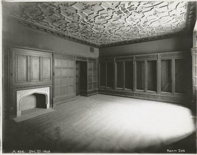 Interior work : director's office, room 205.