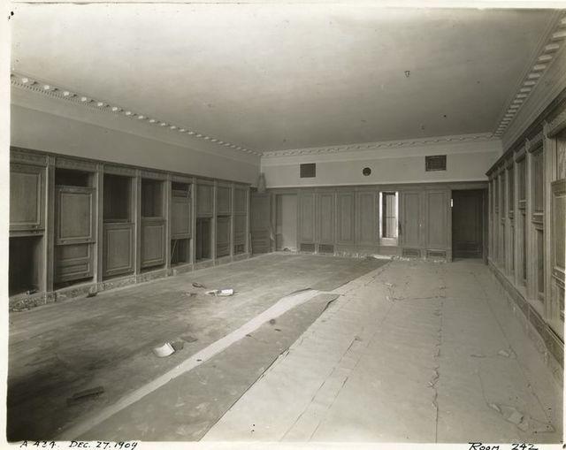 Interior work : director's office, room 242.