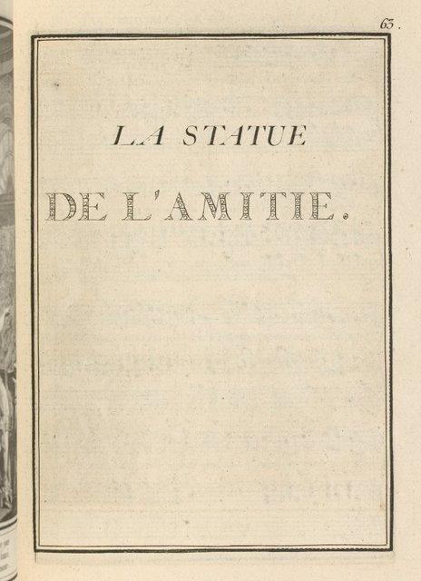 La statue de L'Amitie.
