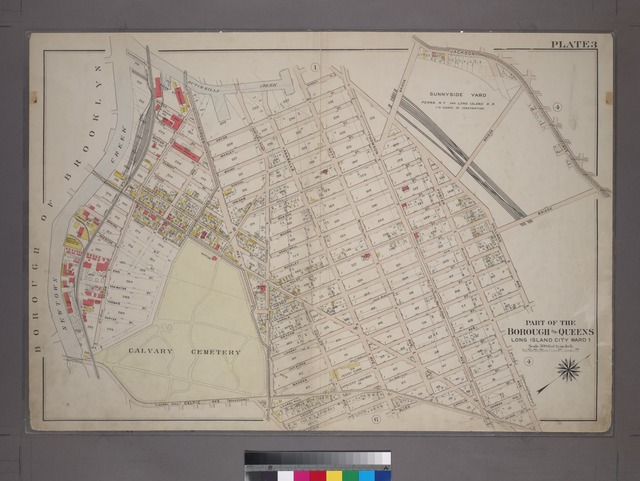 [Plate 3:Bounded by (Dutch Kills Creek) Water Street, Borden Avenue, Orton Street, Thomson Avenue, Van Dam Street, Skillman Avenue (Sunnyside Yard), Laurel Hill Avenue, Foster Avenue, Heiser Street, Bliss Street, Anabelle Avenue, Celtic Avenue and Review Avenue.]