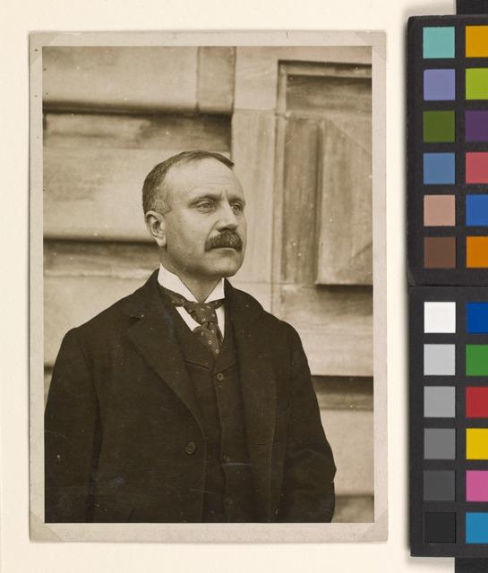 Portrait photograph of William Williams, Commissioner of Immigration at Ellis Island.