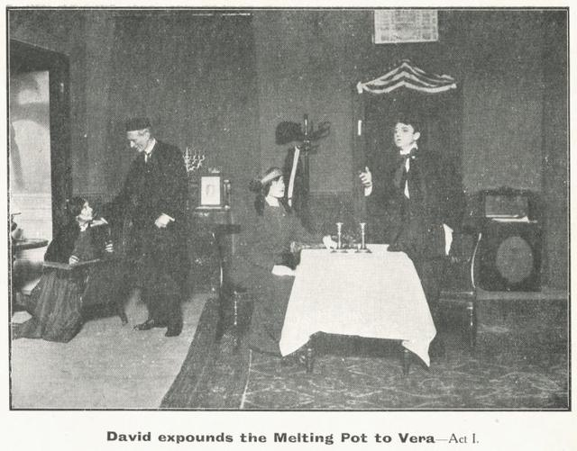 Scene from the stage production The Melting Pot.