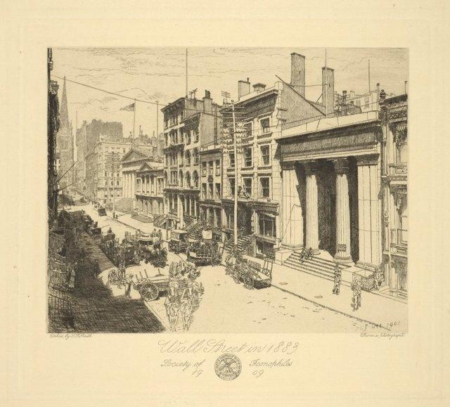 Wall Street in 1883