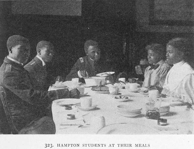 Hampton students at their meals.