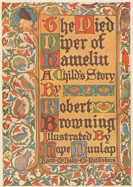 Title Page The Pied Piper of Hamelin, A Child's Story.