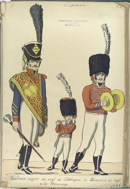 1 Tambour-major du reg -t de Caralogne; 2. Musicien du reg-t de la Princesse. (1806)