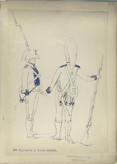 28-o Regimento di Linea MALAGA. [1806]