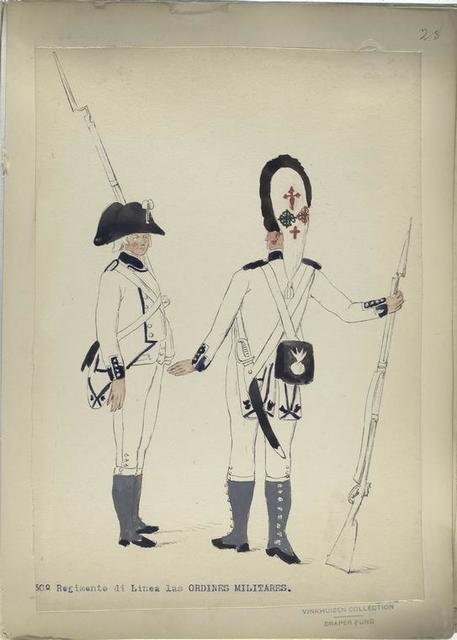 30-o Regimento di Linea las ORDINES MILITARES. [1806]