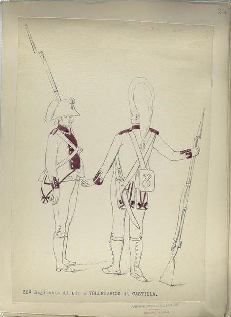 32-o Regimento di Linea a VOLUNTARIOS di CASTILLA. [1806]