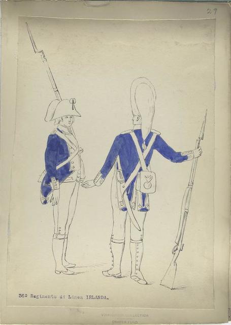 36-o Regimento di Linea IRLANDA. [1806]