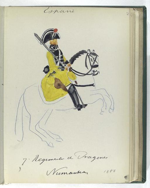7-o Regimento de Dragones NUMANTIA (1806)