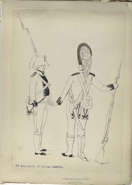 9-o Regimento di Linea ZAMORA. [1806]