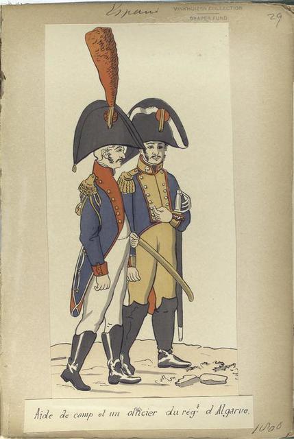 Aide de camp et un officier du reg -t d'Algarve (1806).