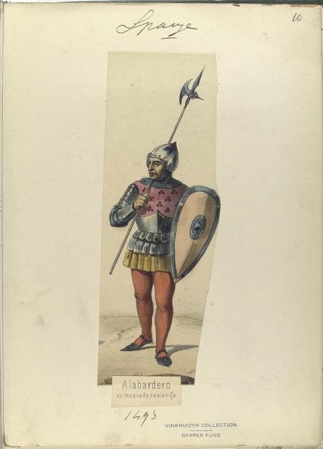 Alabardero, de mesnada realenga. 1493