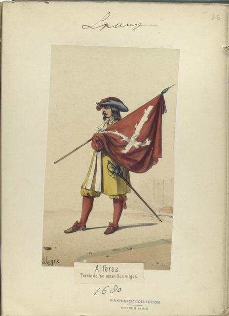 Alferez. Tercio de los amarillos viejos. 1680