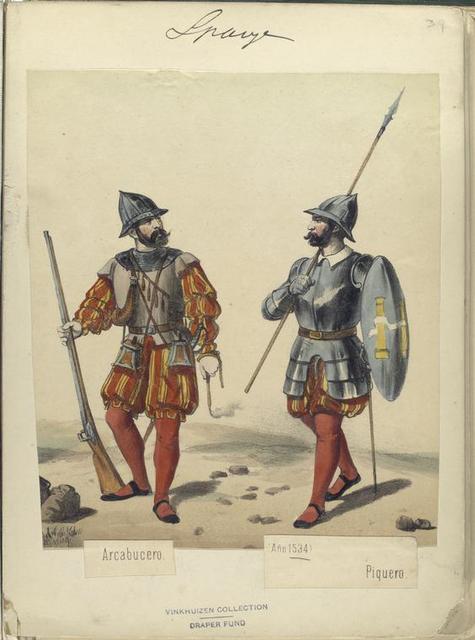 Arcabucero; Piquero (Año 1534).