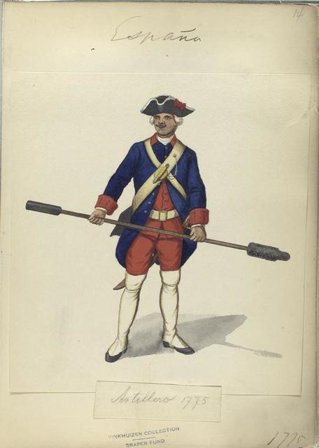 Artillero. 1775