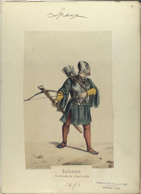 Ballestero, de mesnada de cibdad ó villa. 1493