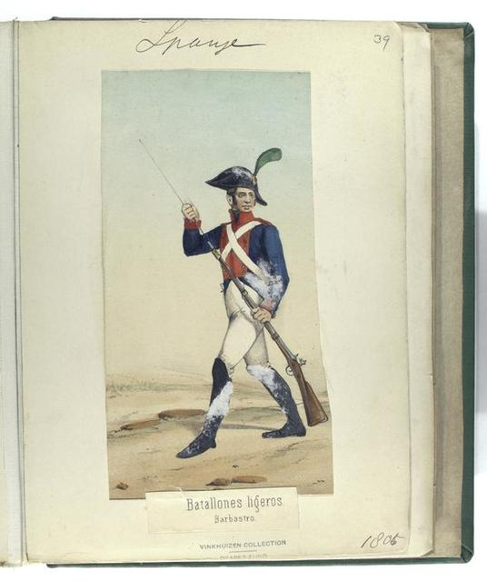 Batallones ligeros. Barbastro. (1806)