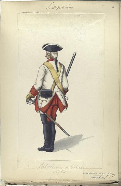 Caballeria de linea. 1750