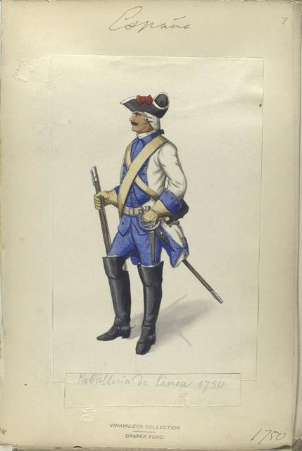 Caballeria de linea (1750).
