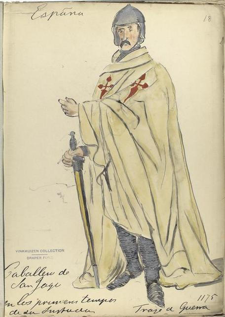Caballero de Santiago de los primeros tempos de la [...]. Traje de guerra.   ([Año] 1175).