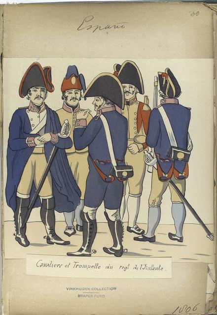 Cavaliers et Trompette du reg-t de l'Infante (1806).