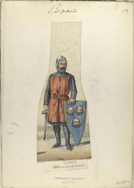 Cetrato, loricato de mesnada señorial.  ([Año] 1185).