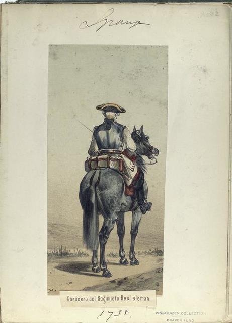 Coracero del Regimiento Real aleman. 1735