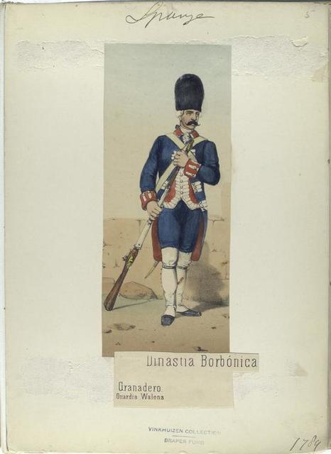 Dinastia Borbónica. Granadero, Guardia Wallona. (1789)