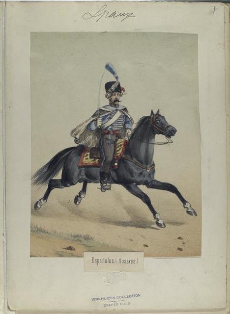 Españoles (Husares). [1798]