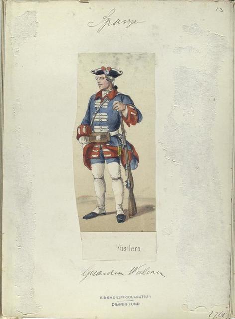 Fusilero. Guardia Walona. 1761