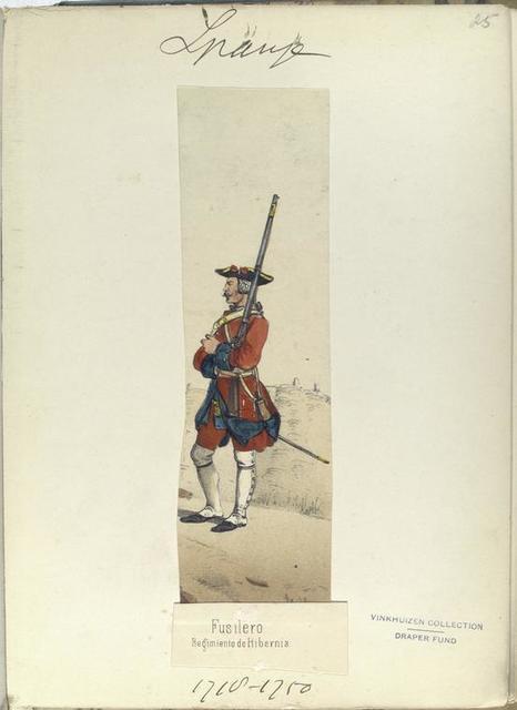 Fusilero. Regimiento de Hibernia. 1710-1750