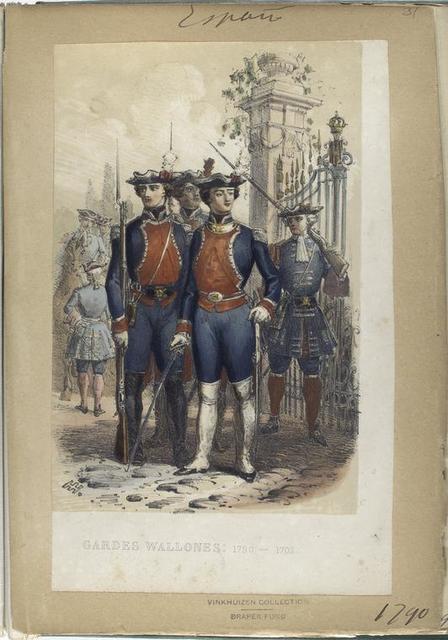 Gardes Wallones: 1790-1703 [1803?]