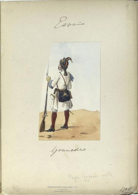 Granadero. 1708