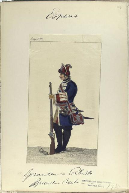 Granadero a caballo. Guardia Real. 1735