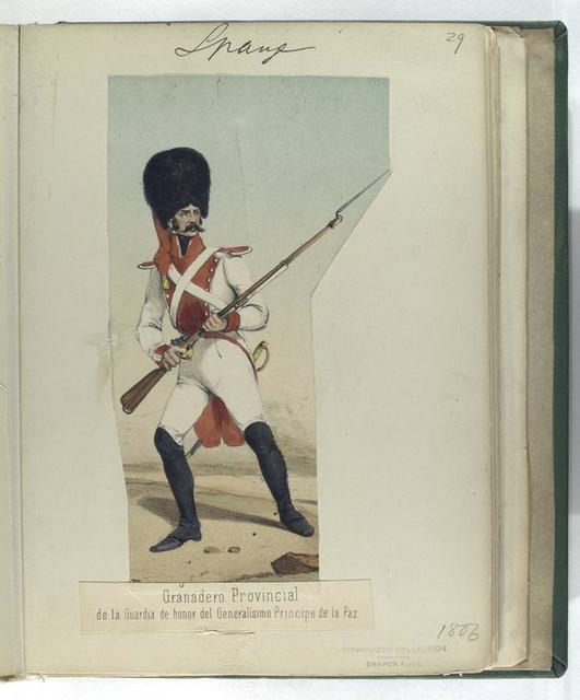 Granadero. Provincial  de la Guardia de honor del Generalisimo Principe de la Paz. (1806)