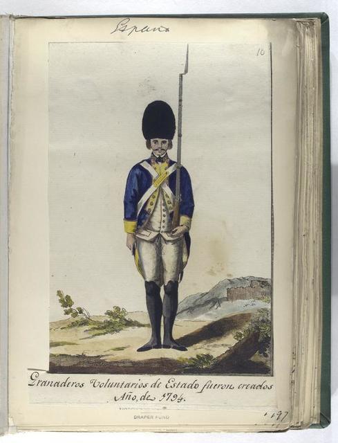 Granaderos Voluntarios de Estado fueron creados Año, de 1794 (1797).
