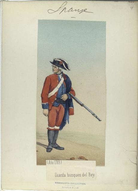 Guarda bosques del Rey. (Año 1789)