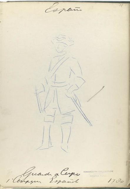 Guardia de Corps. 1-er Campagne Español. 1780