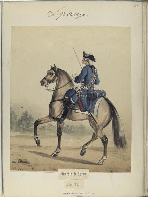 Guardia de Corps. (Año 1789)
