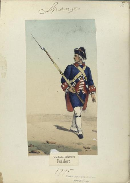 Guardia de infanteria: Fusilero. 1775