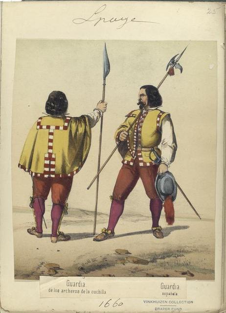 Guardia de los archeros de la cuchilla; Guardia española. (1660)